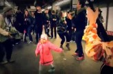 Little Girl Starts A Dance Party In A Subway Station