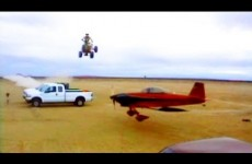Quad Jump over Flying Airplane