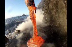 This Rare Footage Of Lava Spilling Into The Ocean Is Incredible