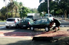 Angry Cyclist Moves Car From Bicycle Lane