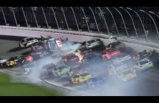 Dillon walks away from scary wreck