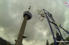 World Record: 91.1m (293ft) Basketball Shot